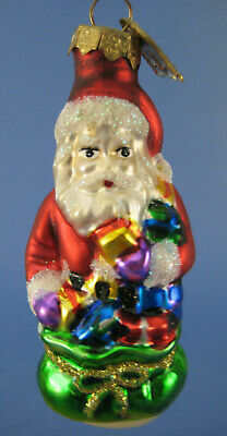 Santa Claus Bag Presents Glass Ornament Thomas Pacconi Night Before Christmas