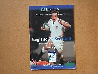 Rugby Five Nations 1999 programme - England v Scotland at Twickenham + ticket