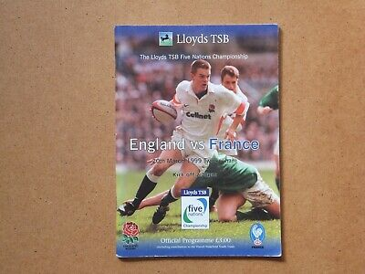 Rugby Five Nations 1999 programme - England v France at Twickenham + ticket
