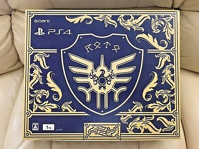 New,SEALED Sony PlayStation 4 PS4 1TB Blue Console Dragon Quest Loto Slime RARE!