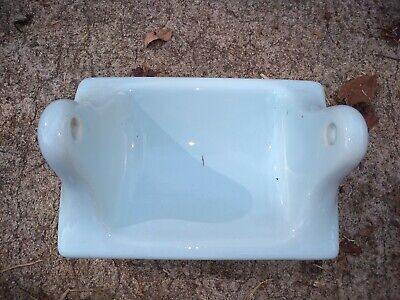 BA-1078 NOS Vintage Ceramic Bathroom Light Blue Toilet Paper Holder 7 x 4 3//4/""