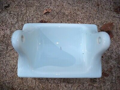 BA106 USA NOS Vintage Ceramic Bathroom Robin Egg Blue Toilet Paper Holder 7 x 5""