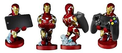 """Official Marvel Iron Man Cable Guy 8"""" PS4 / Xbox One Controller, Phone Holder"""