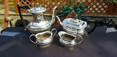 A Vintage Georgian Style 4 Piece Silver Plated Tea Set.viners of sheffield.