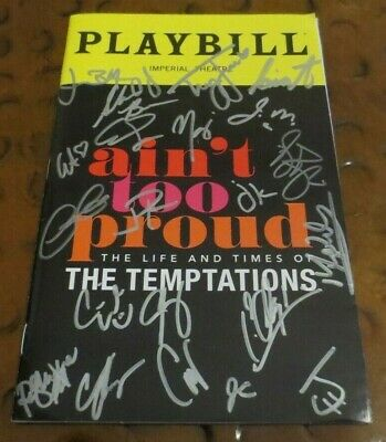Ain't Too Proud Broadway musical Play Playbill current cast signed autographed