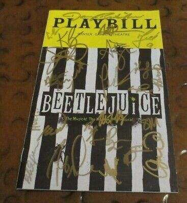 Beetlejuice Broadway Play Playbill current cast signed autographed