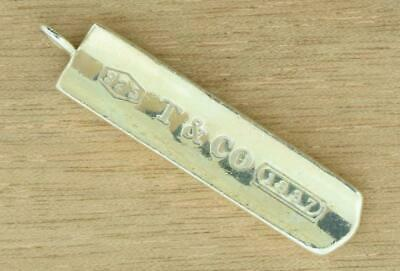 2001 Tiffany & Co Sterling Silver 925 Bar Pendant ~ 80536