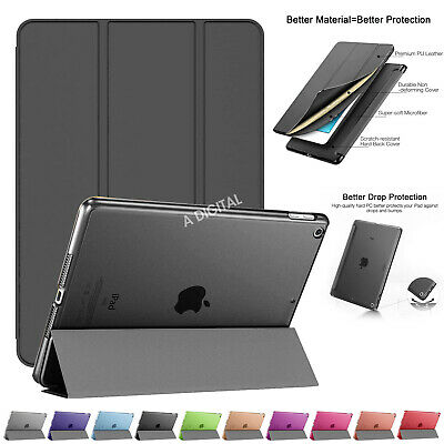 New Slim Smart Stand Magnetic Leather Case Cover For All APPLE iPad Models