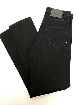 Zoo York Unbreakable Bowery II Taper Fit Black Denim Jeans Men's Size 26 NWT