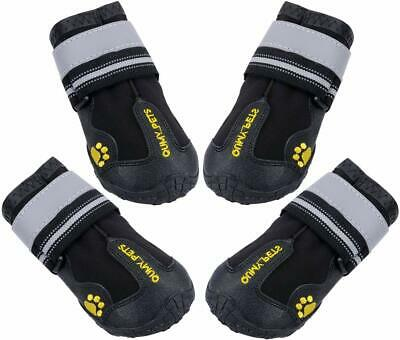 4 Piece Dog Boots Waterproof Shoes Large Dogs With Reflective Winter Rugged 6