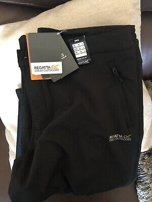 Mens New Regatta Water Repellent And Wind Resistent Trousers Size L