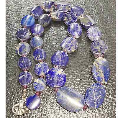 Old Natural Lapis lazuli Stone Beautiful Necklace # 29