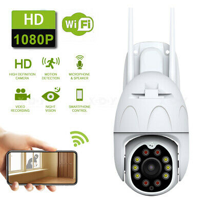 Outdoor Wireless IP Camera FHD 1080P WIFI 4X Zoom Night Vision Home Surveillance