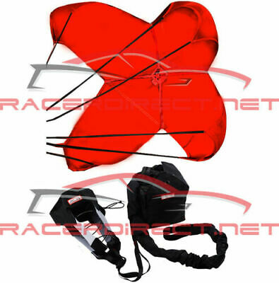 Racerdirect 790 Jr Dragster Parachute Spring Loaded Red Racing Safety Chute