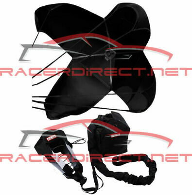 Racerdirect 790 Jr Dragster Parachute Spring Loaded Black Racing Safety Chute
