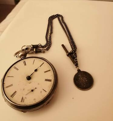 solid silver pocket watch - Early 1900s - Chester Hallmark - still ticking
