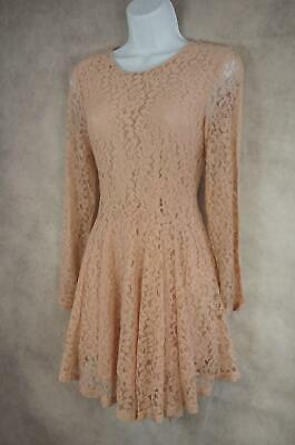 New With Tags H&M Ladies Size 10 Dusky Pink Lace occasion Skater Dress