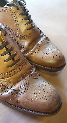 Mens Grensons Black Leather Lace Up Brogues//Shoes G Fitting St Pancras