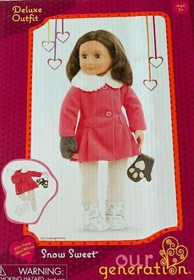 New Our Generation Snow Sweet Winter Doll Clothes Coat Mittens for 18in Dolls