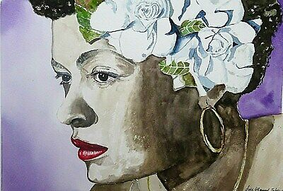Original painting picture watercolor by  Jose Manuel Iglesias fineart 46 x 32cm