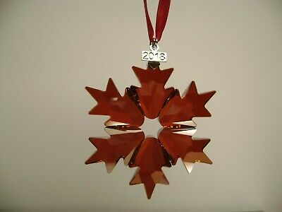 2018 Hollyberry Red Snowflake Annual Edition Holiday Swarovski Crystal Ornament