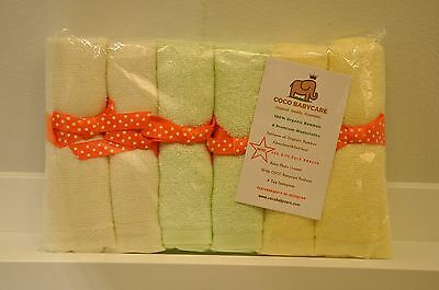 Baby Organic Bamboo Washcloths&wipes Extra Soft & Absorbent Cocobabycare