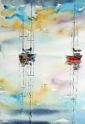 Original painting picture watercolor by  Jose Manuel Iglesias  55 x 42cm Total