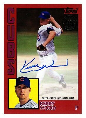 2019 Topps Update KERRY WOOD AUTO 1984 RED PARALLEL 23/25 CHICAGO CUBS