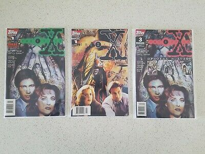 3 x X-files comic books graphic novels Issue 1, Annual 1 & Special Edition 3