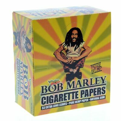 Bob Marley King Size Cigarette Rolling Papers 1 Box 50 Packs 🔥Free Shipping🔥