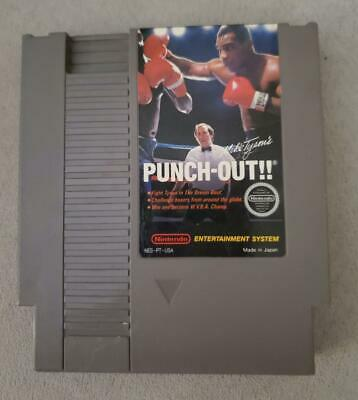 NINTENDO NES Mike Tyson's Punch-Out Game & Dust Sleeve