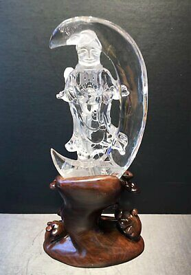 Chinese Exquisite Handmade Buddha Carving crystal statue