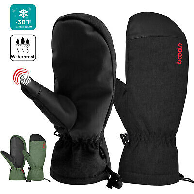 Waterproof Winter Snow Ski Mittens Thermal Warm Gloves Snowboard for Men Women