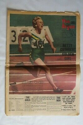 Olympic Games Collectable 1956 Melbourne Vintage The Argus Cuthbert Golden Girl
