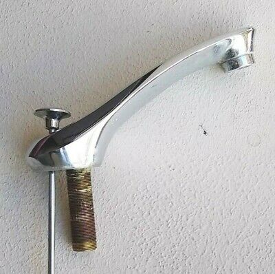 Vintage Bathroom Sink Faucet Chrome no hardware except drain pull