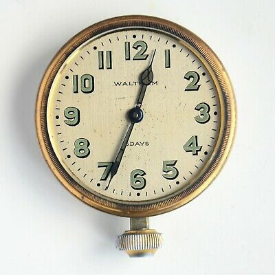 Vintage Antique Waltham 8 Day Clock Running