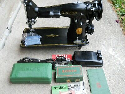 1950 Singer 201-2 Sewing Machine Accessories Buttonholer Zigzagger  Serviced