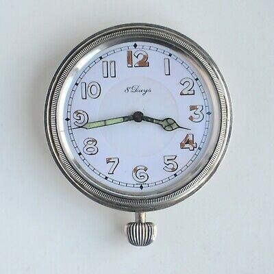 Antique Concord 8-Day Swiss Made 15 Jewels Travel Car Clock Pocket Watch As Is