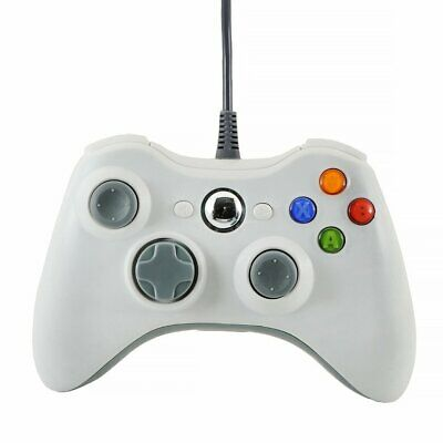 White Brand New Usb Wired Controller For Microsoft Xbox 360 Pc Windows