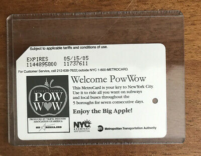 Pow Wow International Conference NYC Subway MetroCard in mint new condition