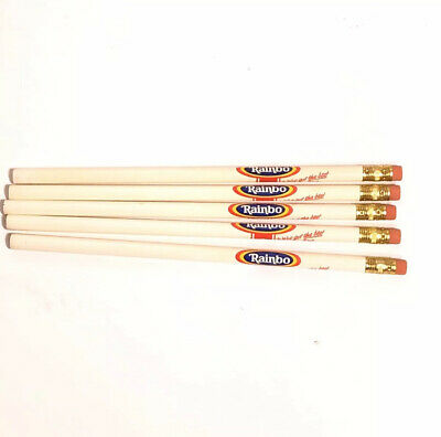Vintage RAINBO Bread 80's Pencil Lot of 5 New Never Sharpened Advertising