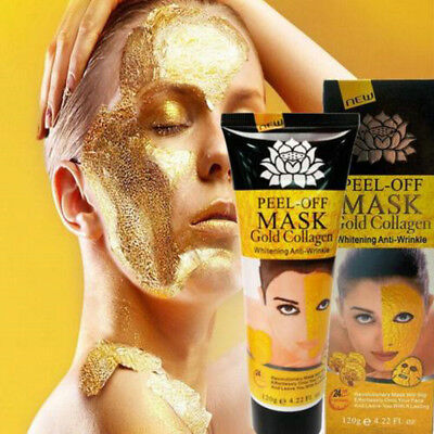 2X 24K Gold Peel Off Facial Face Mask Moisture Anti Aging Remove Wrinkle