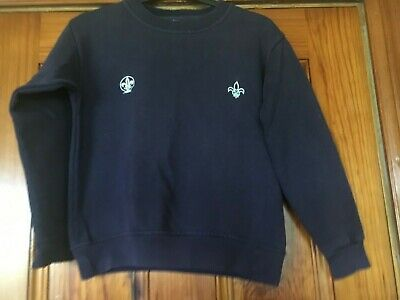 River 'n' Rock age 9 -10 Navy Blue Scout Jumper Cotton Rich in Great Condition