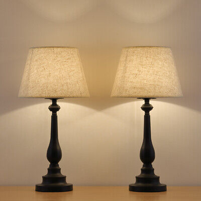 Bedside Table Lamp Set of 2 - Modern Nightstand Lamps for Rooms,Office