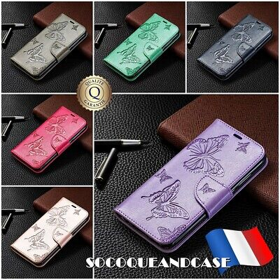 Etui Coque Housse BUTTERFLY Stand Wallet Case XIAOMI Redmi Note 8, 8T, 8 Pro