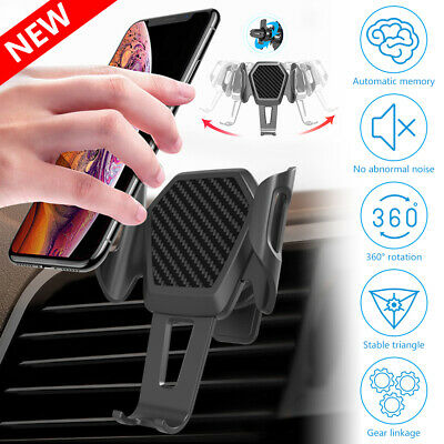 360° Rotatable In Car Mobile Phone Holder Clamp Air Vent Universal Mount Cradle
