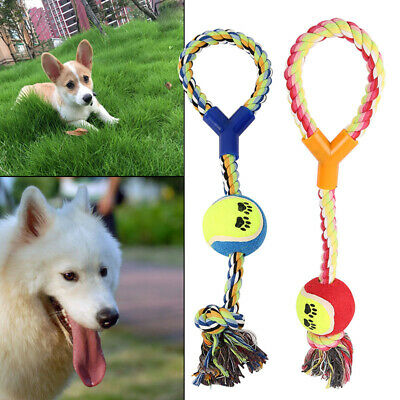 Pet Dog Rope Chew Toys Kit Tough Strong Knot Ball Pet Puppy Cotton Teething Toy