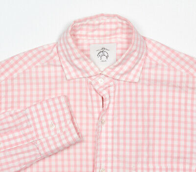 Brooks Brothers Noir Chemise Polaire 14.5-32 (BB0) Taffy Rose Vichy Check Coton