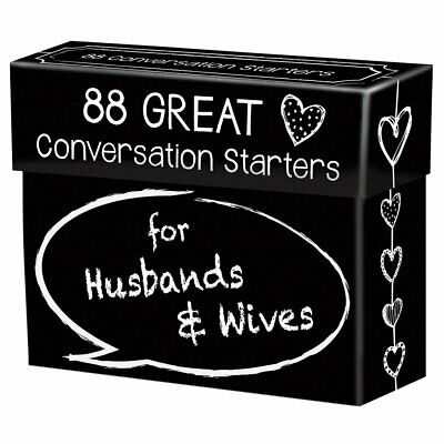 88 Great Conversation Starters for Husbands and Wives - Romantic Card Game