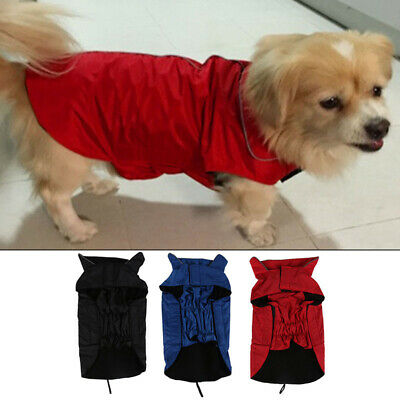 Waterproof Small Dog Clothes Autumn Winter Warm Padded Coat Vest Jacket Apparel